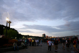 Evening Crowd At The Falls - Part 2